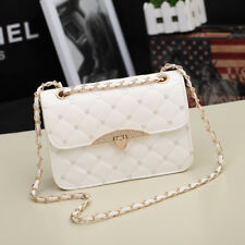 Korean Style Womens Bag Quilted PU Leather Chain Crossbody Shoulder Bags Handbag