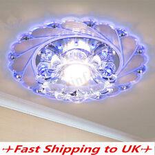 20cm Modern Crystal LED Ceiling Blue Light Lamp Lighting Fashion Chandelier Home