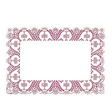 """14.5"""" x 9.5"""" white paper lace placemats disposable 10 pcs per pack Fanci-Lace"""