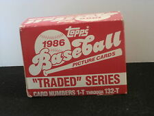 """Topps 1986 """"Traded"""" Series - 132 Card Set - Cards 1-T to 132-T"""