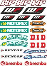 KTM WP Motorex Brembo Dunlop Decals Sheet Stickers Graphic Set Logo Adhesive