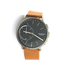 Skagen connected Hagen Men's SKW6320 Grey Titanium Leather Band Quartz Watch