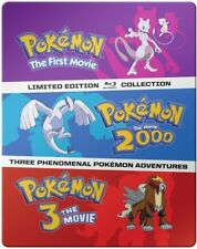 Pokemon Movies 1-3: Collection [New Blu-ray] Ltd Ed, Steelbook, 3 Pack
