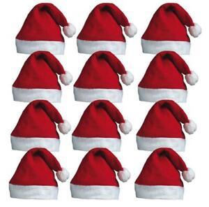 BULK BUY CHRISTMAS SANTA HATS FANCY DRESS XMAS PARTY SANTA CLAUS WHOLESALE