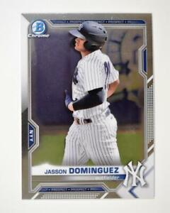 2021 Bowman Prospects Chrome Base #BCP-13 Jasson Dominguez - New York Yankees