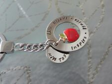 Personalised  Hand Stamped Teachers  end of year Gift  Keyring