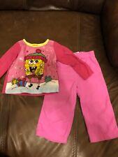 Girls Spongebob 2-piece Holiday Pajamas Size 24 Months