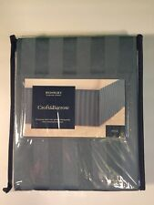 "Croft & Barrow  Full Bed Skirt Damask Stripe 14"" Drop Bed skirt - New"