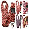 Spirius lanyard neck strap for id badge holder with metal clip keychain