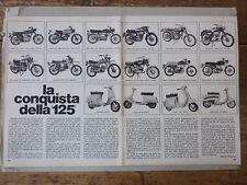 *ARTICOLO LA CONQUISTA DELLA 125 - MORINI - GILERA - LAMBRETTA - VESPA   -- 1968