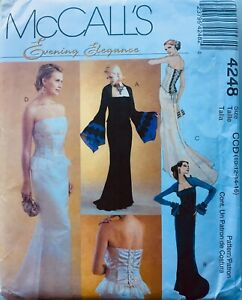 ELEGANT WEDDING DRESS / EVENING GOWN & STOLE Sewing Pattern SIZE 12-16 (M2954)