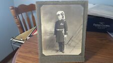 1923 Fraternal Commander w/ Sword And Uniform Hat Picture Knights Templar Mason
