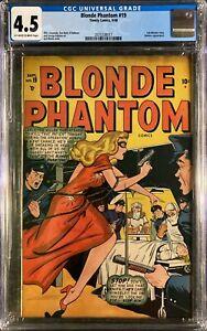 Blonde Phantom #19 CGC 4.5 OW/W (Timely, Sept 1948) Sub-Mariner/Namora