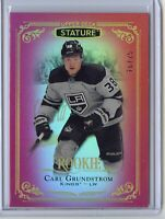 2019-20 Upper Deck Stature CARL GRUNDSTROM RED /75 - Los Angeles Kings Rookie