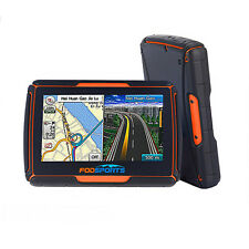 "Waterproof Motorcycle GPS Navigator Moto Bluetooth 4.3"" GPS Screen 8GB+Free Maps"