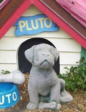 Massive chiot 24cm chien béton 5kg sculpture en pierre Figures de jardin statue