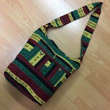 RASTA JAMACIAN STYLE Crossbody Sling Hippie Boho Shoulder Bag Cotton Messenger