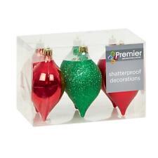 Decoración Árbol Navidad - Paquete De 6 95mm Inastillable Conos - rojo / Verde