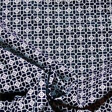 "Black & White Cotton Fabric, 22"" by 24"", Small Quatrefoil Print, by Northcott"