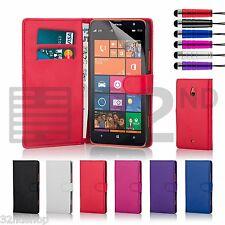 Funda de Cuero Tipo Cartera para Nokia Lumia 1320/1520 Protector Pantalla Gratis
