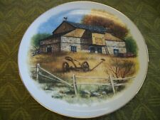 "The Collectors' Gallery, Americana Plate Series, ""The Old Stone Barn"" Very Nice!"