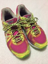 ASICS Women's  Pink Yellow  Athletic GT - 2000  Running Tennis  Shoes Size Sz 8