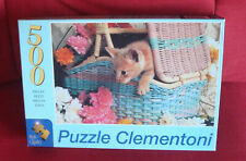 "NEW Clementoni 500 piece Jigsaw puzzle ""Feline Curiosity"" Art 30584, cat, sealed"