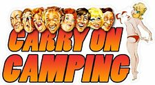 Carry On Camping Sticker.  VW TRANSPORTER BEETLE CAMPER CADDY CAMPING Funny