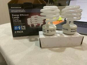 (2x Spiral long lasting 10,000hrs) Energy Efficient Lamps 2 Pack