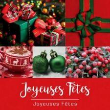 """40 étiquettes """"joyeuses Fêtes """"  autocollantes.  Dimension 3.5 cm."""