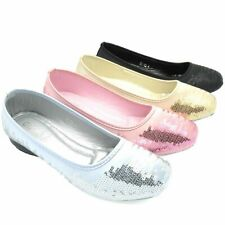 WOMEN'S BALLERINA BALLET DOLLY PUMPS LADIES FLAT LOAFERS SHOES SIZE FS-52