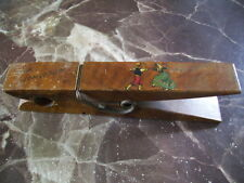 Vintage Novelty Large Wooden Peg for Bills/Paper Holder 'For Tomorrow' Mallorca