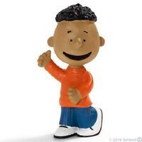 NEW SCHLEICH PEANUTS CLASSIC FRANKLIN PVC FIGURE CHARLIE BROWN'S FRIEND + TAG!!!