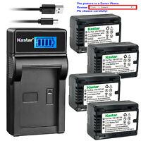 Kastar Battery LCD USB Charger for VW-VBT190 & Panasonic HC-V520GK HC-V520MGK