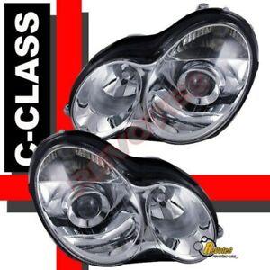 01-07 Mercedes Benz W203 C Class 4Dr Sedan C230 C240 C320 Projector Headlights