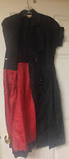 Vintage Style Puritan Forever 21 Sz 4 or 6 Black acetate dress red lining