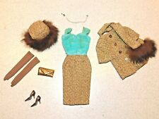 Barbie:  VINTAGE Complete GOLD & GLAMOUR Outfit w/HTF Brown Japan Pumps!