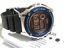Authentic Casio W216H-2AV Man's Kids Black Resin 100M Alarm Digital Quartz Watch