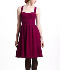 RARE Anthropologie Ruched Corduroy Dress Removeable Straps. Sz 4 (Retail $148)