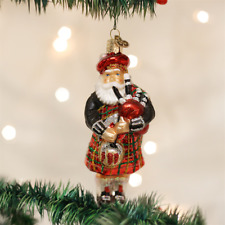 OLD WORLD CHRISTMAS HIGHLAND SANTA GLASS SCOTTISH CHRISTMAS ORNAMENT 40139
