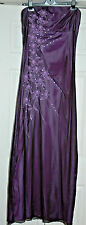 NEW Sz 16 Jane Norman Lilac purple Beaded & Sequin 2 Layer Maxi Dress