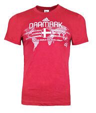 Hombre Chico Adidas Dinamarca Camiseta Adulto Prenda para el torso Camiseta Rojo Copa Mundial de fútbol 2010
