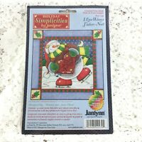 Janlynn - 14 Count Cross Stitch Kit - I LOVE WINTER - From 2001 - Printed Mat