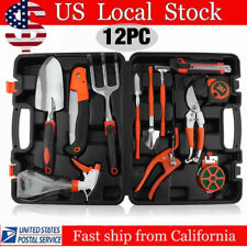 NEW 12 Pieces Garden Hand Tools Set Home Lawn Kit trowel Household Equipment OUY