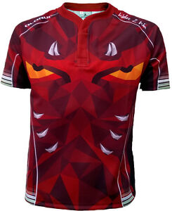 Olorun Welsh Dark Dragons 2 Supporters Rugby Shirt S-7XL