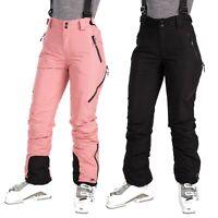 Trespass Womens Ski Pants Black Pink Salopettes Waterproof & Warm