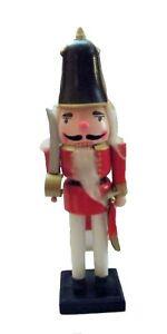 """Christmas nutcracker wood red soldier sword 14 1/2"""" tall"""