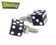 Black Dice número de matrícula Pernos (par) Vw Camper Beetle euro golf Polo de coche