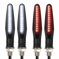 Motorcycle Sequential Flowing LED Turn Signal Indicator DRL Daytime Brake Light