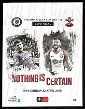 CHELSEA v SOUTHAMPTON FA CUP SEMI FINAL MATCH DAY PROGRAMME 22 April 2018